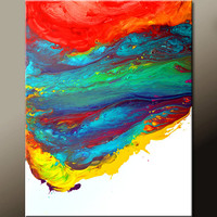 Abstract Canvas Art Painting Huge 30x40 Contemporary Original Wall Art Paintings by Destiny Womack -  dWo - The Edge of Reality