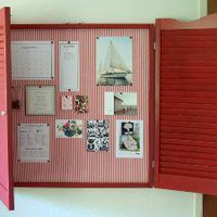 Bulletin board with shutters - Crafty Nest