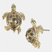 Betsey Johnson 'Sea Excursion' Turtle Earrings