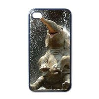 Elephant happy Apple RUBBER iPhone 5 Case / Cover Verizon or At&T Phone Great Gift Idea