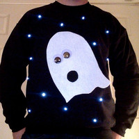 Light Up Halloween Sweater!  Boo!