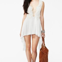 Silk Crochet Dress in Clothes at Nasty Gal