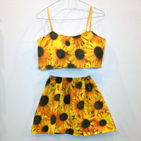 Sunflower Skirt by ByAndie on Etsy