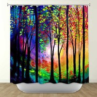 Shower Curtain from DiaNoche Designs by Artist Aja Ann Home Décor and Bathroom Ideas - Autumn Eve II