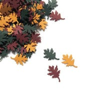 Fall Wedding Confetti - Oak Leaves Confetti - 200 Pieces