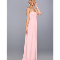 Donna Morgan Strapless Chiffon Gown - Stephanie