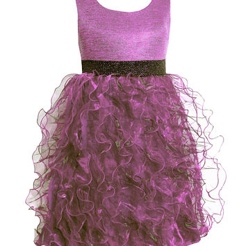Bonnie Jean 7-16 Iridescent Knit/Organza Dress | Dillards.com