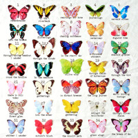 TEN handmade silk butterfly hair clips . the butterfly house . your choice