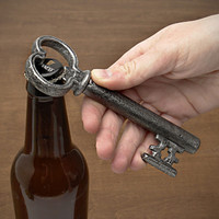 Skeleton Key Bottle Opener with Secret Wine Corkscrew