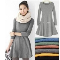 CUTE LOOSE NICE WOOL COMFORTABLE DRESS