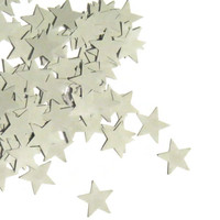Star Confetti - Star Wedding Confetti - Gray Biodegradable Stars Confetti - 200 Pieces
