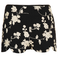 Black Embroidered Shorts - New In This Week - New In - Topshop USA
