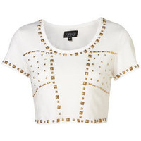 Gold Stud Crop Tee - Jersey Tops - Apparel - Topshop USA