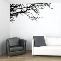 Amazon.com: Vinyl Wall Decal Sticker Art Tree Top Branches-Home Décor-Black/Regular: Home & Kitchen