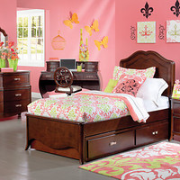 Nicolette Cherry   5 Pc Twin Bedroom