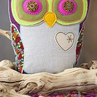 BOHO OWL PILLOW - JUST GO WITH - Junk GYpSy co.