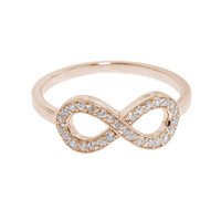 Rose Gold Pave Infiniti Ring