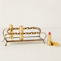Tiered Vestige Cosmetics Holder by Anthropologie Gold One Size Bath