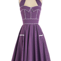 Boysenberry Buckle Dress