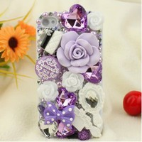 Nova Case 3D Bling Crystal iPhone Case for AT&T Verizon Sprint Apple iPhone 4/4S Purple Fairy Tale - Light Purple