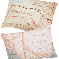 Map Your Dreams Pillowsham Set | Mod Retro Vintage Decor Accessories | ModCloth.com