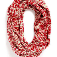 RED AND OAT OVERSIZED SNOOD - Snoods  - Shoes and Accessories