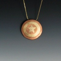 Captain America Shield Necklace | Peaceofshine - Jewelry on ArtFire