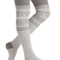 Chalet around the House Socks | Mod Retro Vintage Socks | ModCloth.com