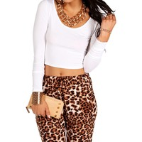 Sale-white Long Sleeve Crop