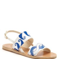 Calypso Double Strap Leather Sandals by Ancient Greek Sandals - Moda Operandi