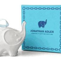 Jonathan Adler Elephant Ornament in Matte White