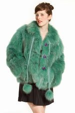 CHARLES ANASTASE SHORT FUR - GREEN - CA0620 - WOMEN - SALE - OPENING CEREMONY