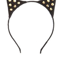Studded Cat Ears Headband: Charlotte Russe