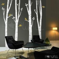 Vinyl Wall Decal Sticker Art Birch Tree Wall Decal by NouWall