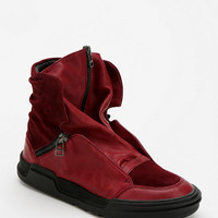 adidas SLVR Front-Zip Leather High-Top Sneaker
