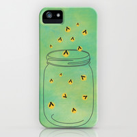 FREELY FLYING FIREFLIES iPhone & iPod Case by Allyson Johnson