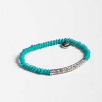 Salt Rock Bar Bracelet in Turquoise