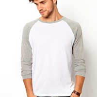 ASOS Long Sleeve T-Shirt With Contrast Raglan