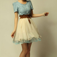 cowboy dress 108 by yuerli on Etsy