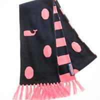 Women's Accessories: Winter Polka Dot Whale Scarf for Women - Vineyard Vines