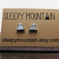 Mountain Earrings - Mountain Peak Stud Earrings