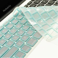 "NEW ARRIVAL! TopCase® LIGHT BLUE Silicone Keyboard Cover Skin for Macbook Unibody Whtie 13""/Macbook Pro Aluminum Unibody 13"" 15"" 17""/Macbook Air 13""/Old Macbook White 13""/Wireless Keyboard with TOPCASE® Logo Mouse Pad"