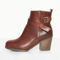 MM6 Maison Martin Margiela Brown Undone Ankle Boot