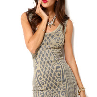 Baroque Tinsel Knit Dress