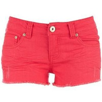 Wallflower Colored Denim Shorts