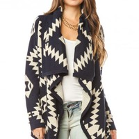 Lulabecca Cardigan in Navy - ShopSosie.com
