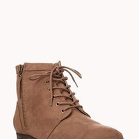 Meadow Lace-Up Booties | FOREVER 21 - 2000075278