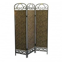 ORE 3 Panel Room Divider in Antique Gold - R850 - Room Dividers - Decor