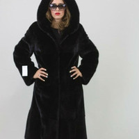 Hooded Skin To Skin 3/4 Length Saga Black Mink Fur Coat - Buy Hooded Skin To Skin,Hooded Skin To Skin,Length Saga Black Mink Fur Coat Product on Alibaba.com