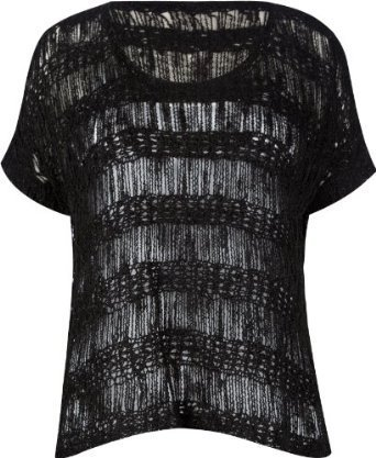 FULL TILT Open Weave Womens Tunic